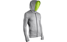 Sugoi Men's Pace Hoodie concrete heather/lotus